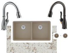 Image result for blanco sinks truffle with rubbed bronze
