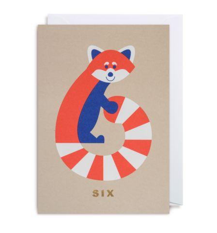 NUMBER SIX RED PANDA