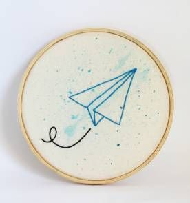 bordado voa aviãozinho