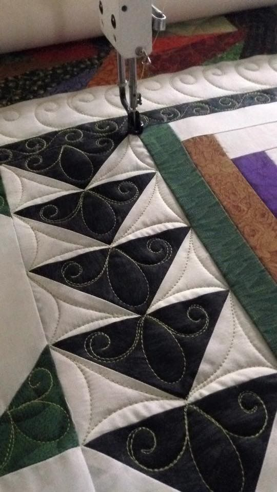 Nice idea for quilting flying geese.                                                                                                                                                                                 More