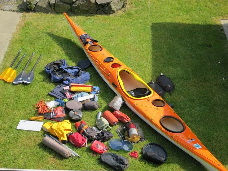 packing a kayak for camping.