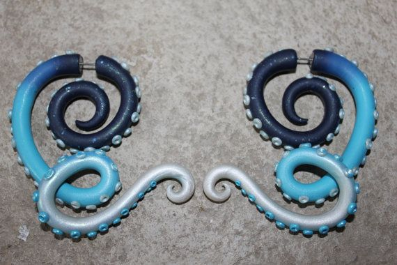Hey, I found this really awesome Etsy listing at https://www.etsy.com/listing/165979377/twisted-tentacle-gauge-and-fake-gauge