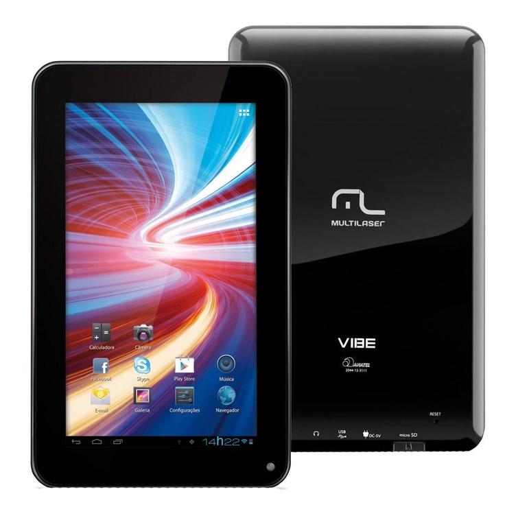 """Tablet Multilaser Vibe NB026 com Tela 7"""" com 8GB, Slot para Cartão, Wi-Fi e Android 4.0 – Preto - http://batecabeca.com.br/tablet-multilaser-vibe-nb026-com-tela-7-com-8gb-slot-para-carto-wi-fi-e-android-4-0-preto.html"""