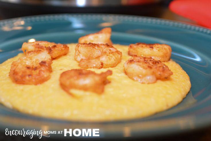 Instant Pot Shrimp and Grits -- Make delicious low country shrimp and grits - cheese grits in the instant pot or pressure cooker! - image