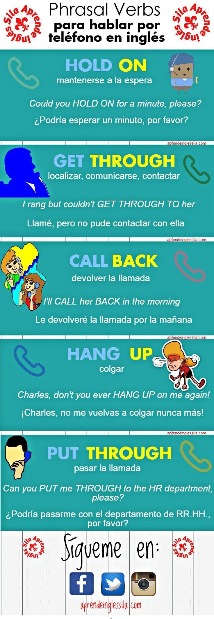hablar por teléfono en inglés #infografias #infographic