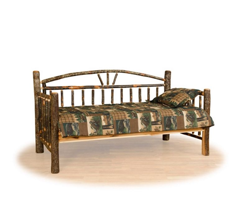Rustic Arch Back Daybed | Farmhouse and Cottage: Everybody should own a daybed. Placed on a covered porch or tucked into a secluded corner of your home, this rustic daybed invites you to relax. The rustic quality of this daybed adds to its charm and makes it a great addition to your lake house or mountain style home. Handcrafted in the USA.