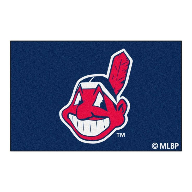 Cleveland Indians 1 ft. 7 in. x 2 ft. 6 in. Accent Rug, Blue