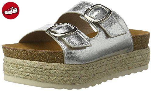 XTI Damen Ladies Sandals Plateausandalen, Silber (Silver), 35 EU (*Partner-Link)