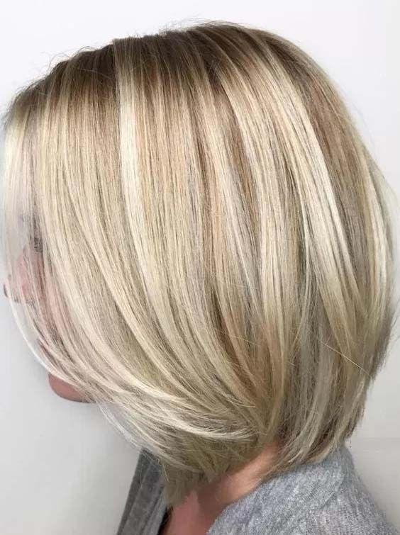 Fabelhafte Medium Bob Frisuren 2018 Haarfarbe Frisur Pinterest