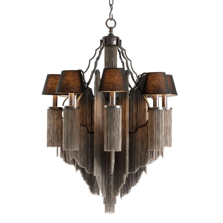 Chandelier Fringe L;  75x104H cm; also one size smaller: 57x76H cm; EH