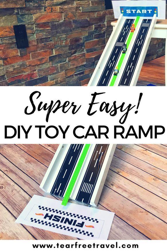 Ikea Hack Diy Toy Car Ramp Diy Toys Car Car Ramps Diy Car Ramps