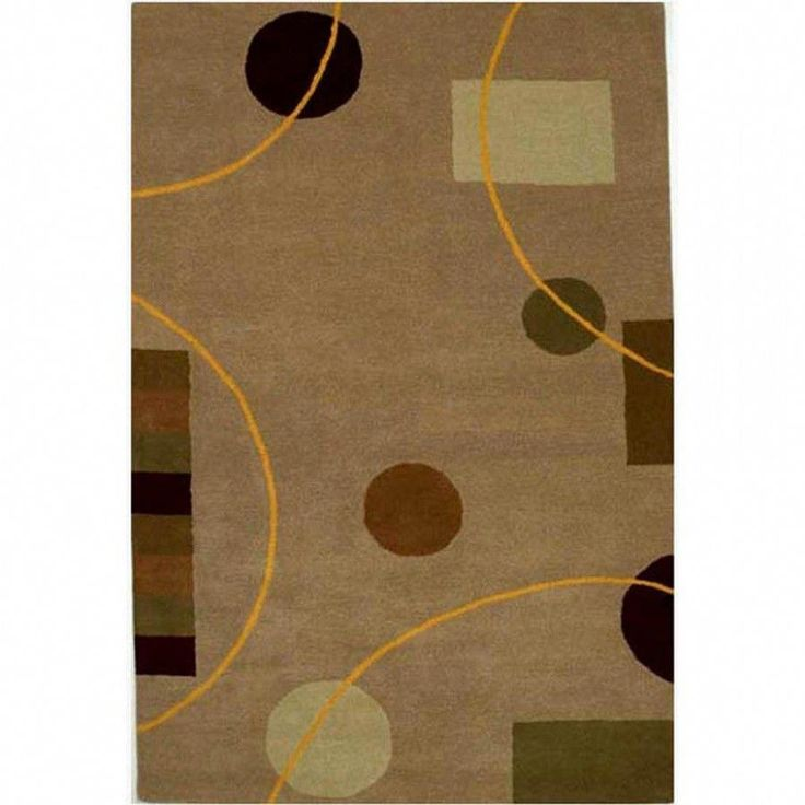 Acura Rugs Contempo Beige / Brown Contemporary Rug