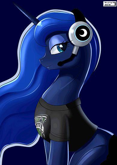 #431085 - animated, artist:ianpo, artist:skyline19, beautiful, cute, gamer luna, princess luna, safe, solo - Derpibooru - My Little Pony: Friendship is Magic Imageboard