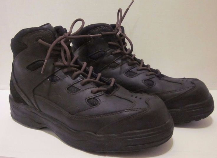 Worx Red Wing Boots Shoes Black 9 WW Steel Toe Oil Slip Resistant STK #6556 #RedWingShoes #WorkSafety