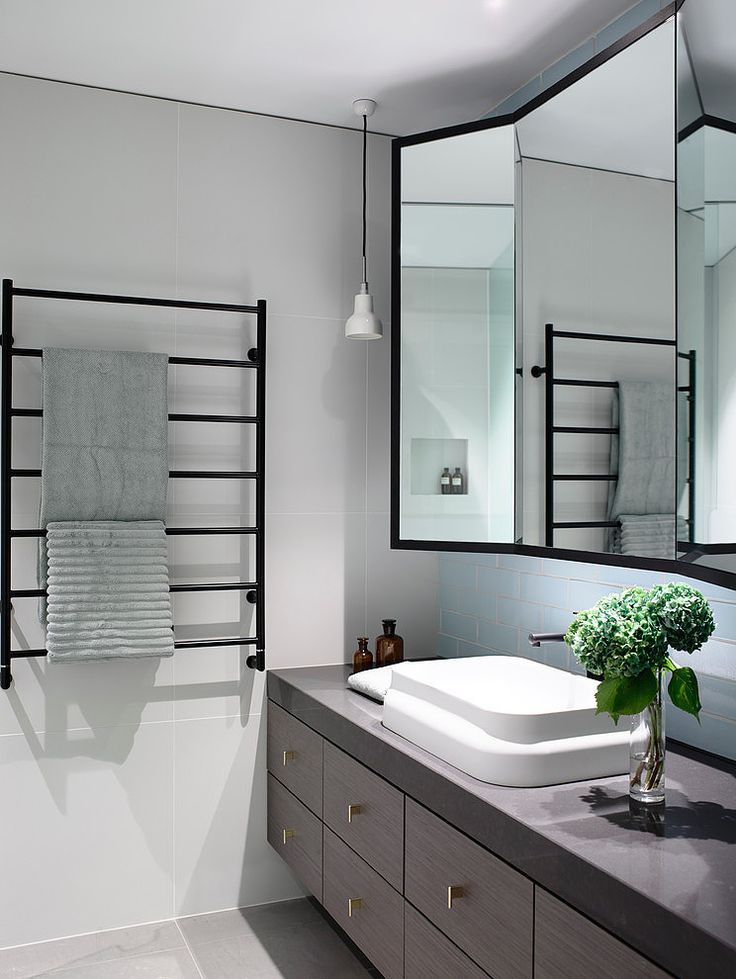 Photo Of Three part mirror with folding wings Chambers St Residence by Mim Design
