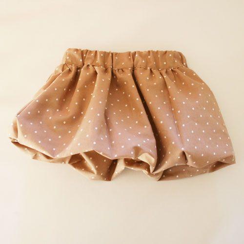 型紙無料ダウンロード(ベビー服バルーンスカート)~ハンドメイドのココロ(新米ママの手芸&グルメ)