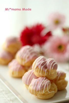 「いちごのプチシュー」setsuko♪ | お菓子・パンのレシピや作り方【corecle*コレクル】