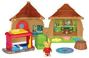 Amazon.com: Daniel Tiger's Neighborhood Bungalow Adventure Playset with Daniel Tiger Figure: Toys & Games