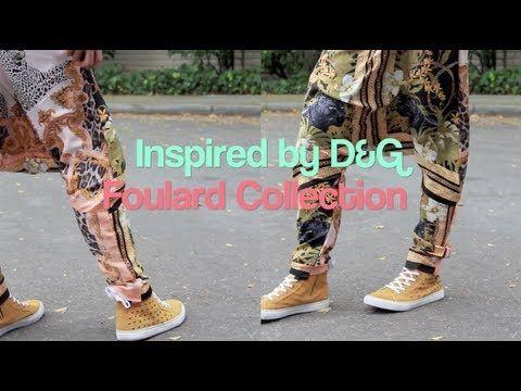 DIY D Inspired Foulard Drop Crotch Pants