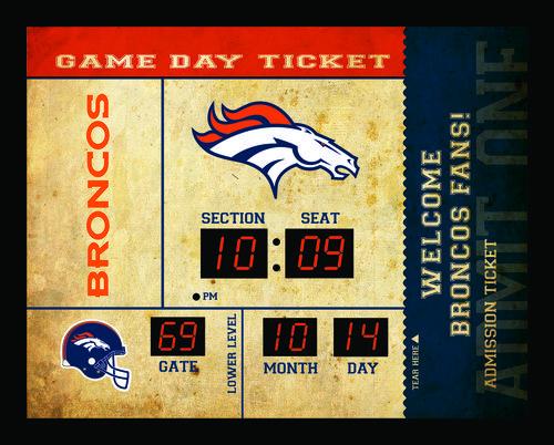 Denver Broncos Clock - 14x19 Scoreboard - Bluetooth