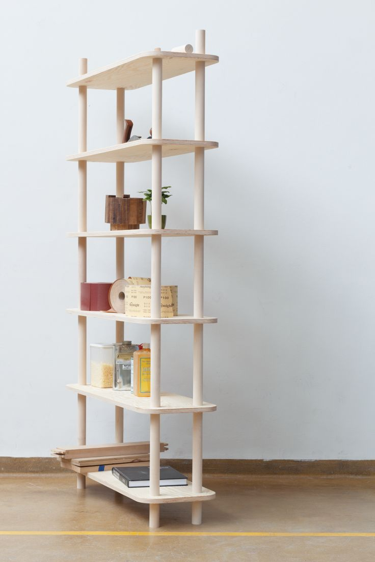 Reader Submitted: A Modular Shelving System That Relies on Threaded Wooden  Rods