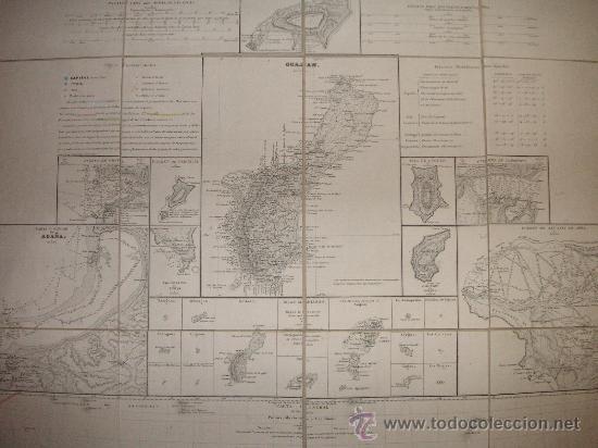 Antigüedades: CARTA NAÚTICA Oceanía Islas Marianas, Palaos y Carolinas 1852 (Gran Formato) - Foto 2 - 26655134