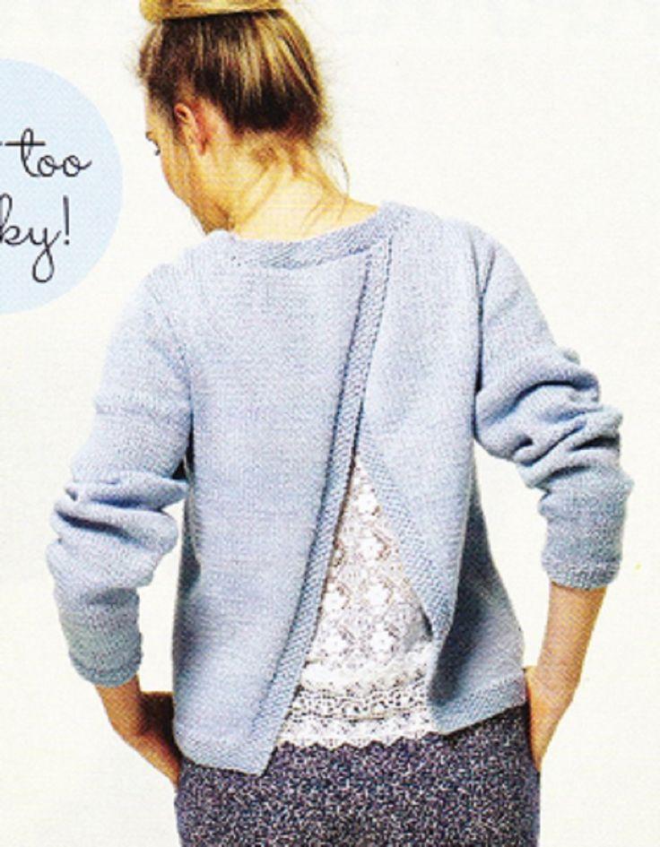 Prima Knitting Pattern Ladys Open Back Long Sleeve