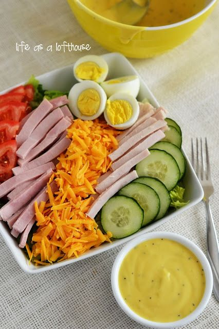 Chef Salad with Honey Mustard Dressing. This salad is amazing! Life In The Lofthouse