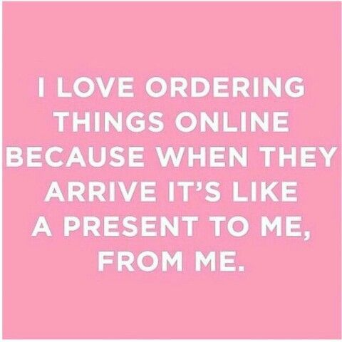 I love online shopping because