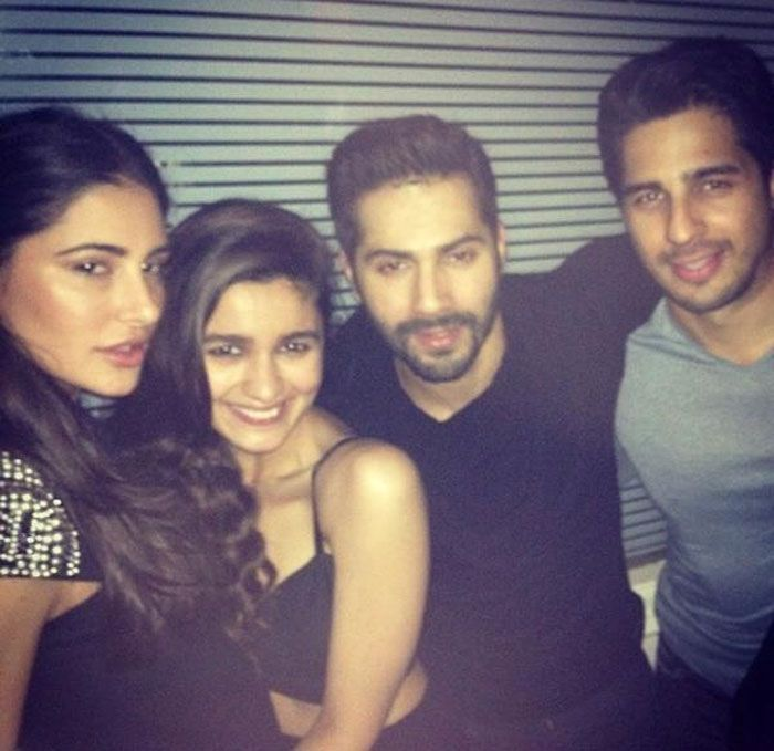 """Nargis Fakhri Poses With """"Students Of The Year"""""""