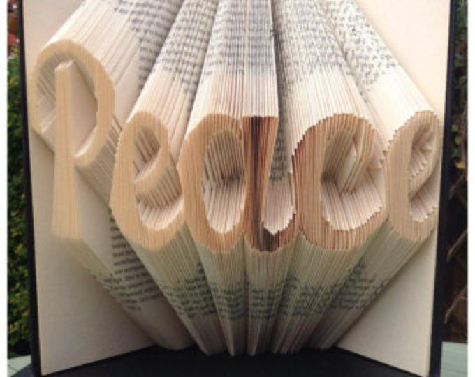 """Book Folding Pattern for """"Peace"""" +FREE TUTORIAL"""
