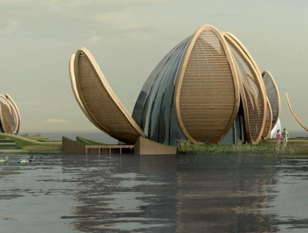 Achterbosch Architectuur - the Lotus house is incredible