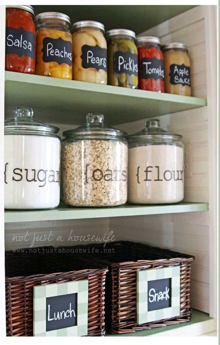 pantry mason jar organization