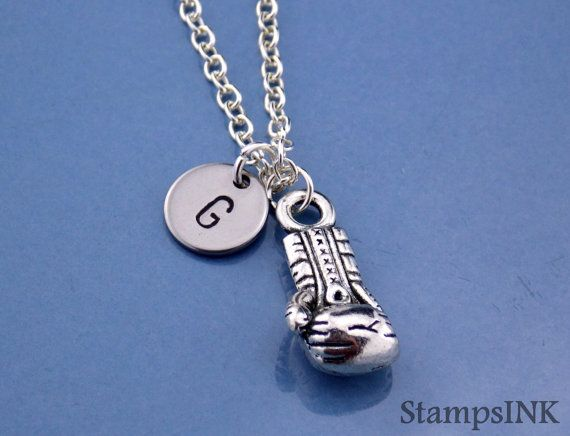Boxing gloves Necklace Boxing Trainer gift Kick by StampsINK