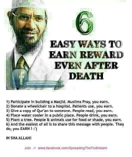 Earn reward. InshAllah