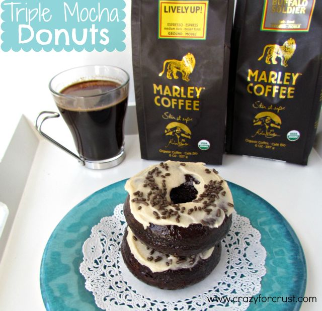 Triple Mocha Donuts @crazyforcrust: Baking Donuts, Donuts Recipe, Chocolates Chips, Donuts Crazyforcrust, Bobs Marley, Triple Mocha, Mocha Donuts, Breakfast Baking Doughnut, Crusts