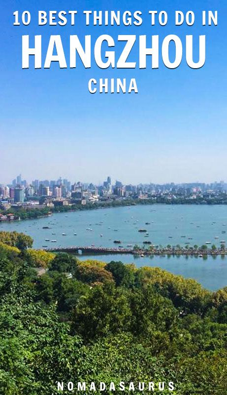 Only an hour away from Shanghai, Hangzhou is a beautiful city to visit in China! Here are all the best things to do, see, and more. #hangzhou #china