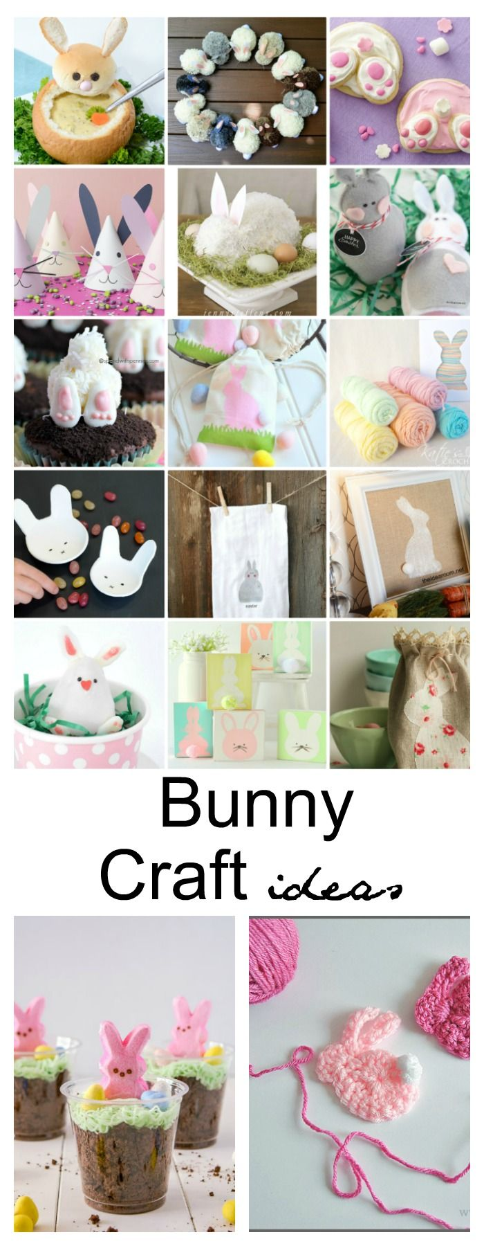 Easter Ideas| Easter is almost upon us……so to get us all inspired and excited,  I am sharing these Easter Bunny Crafts,  Activities and Treat Ideas.