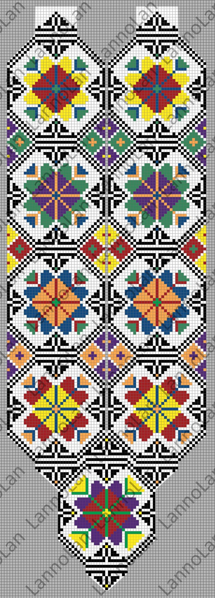 Loom Pattern - ukrainian pattern - beads by Lanno Lan