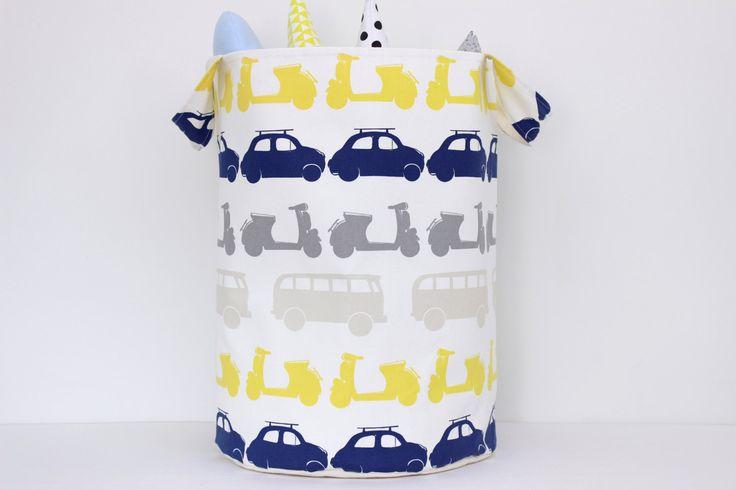 Large Laundry Hamper, 48x35 cm (19'' x 14''), Laundry Basket, Toy Storage, Nursery Fabric Basket, Storage Bin, Toy Basket, Nursery Storage by ProstoConcept on Etsy