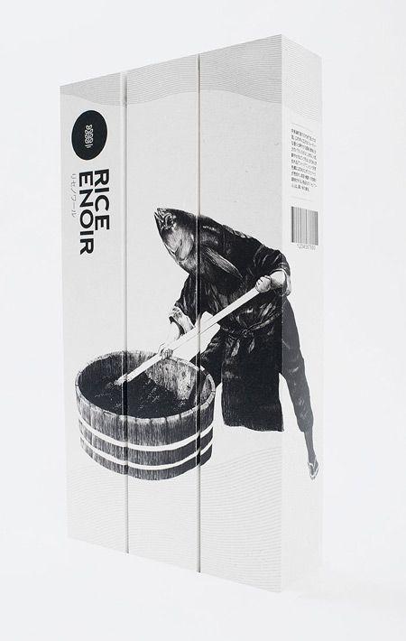 Rice Enoir Sake packaging