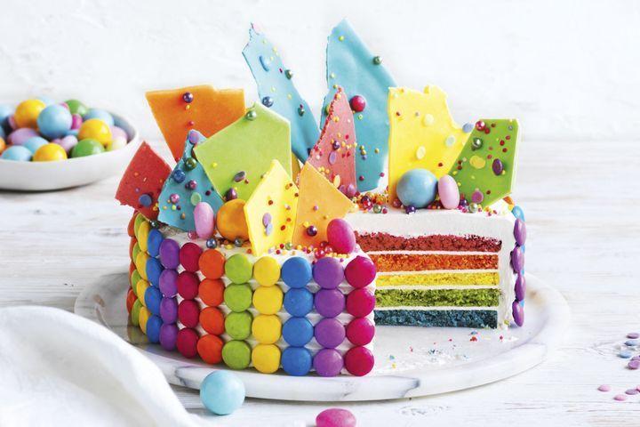 Cheat S Rainbow Cake Recipe Rainbow Cake Rainbow Cake Recipe