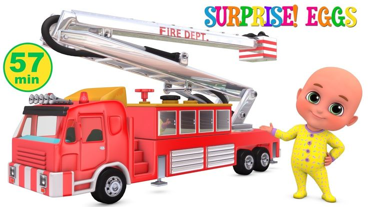 Fire brigade monster truck - Kids toys unboxing - Surprise Eggs Toys fro...