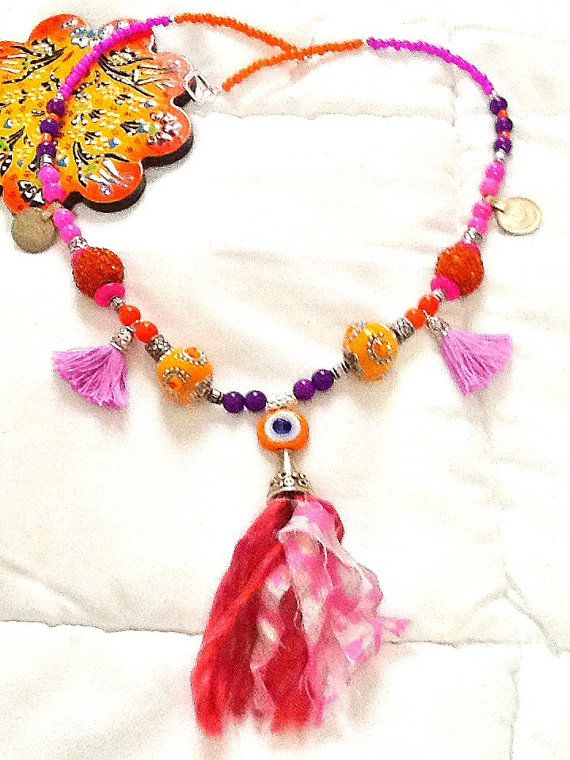 SALE BOLLYWOOD DIVA necklace Ethnic necklace Tribal by Nezihe1