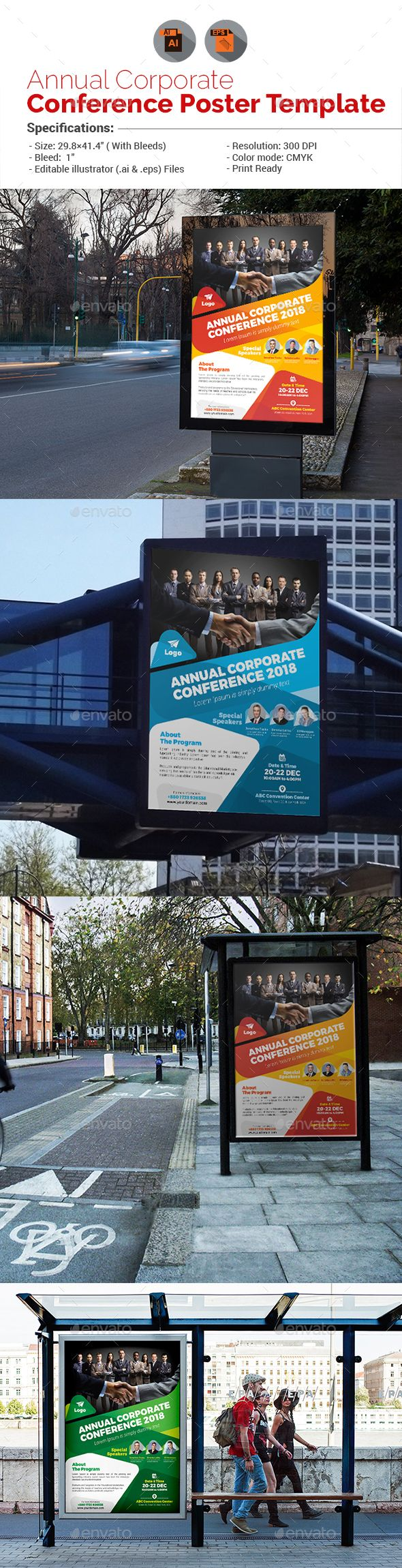 Annual Corporate Conference Poster by aam360 Similar Templates:INFORMATIONS FOR ...