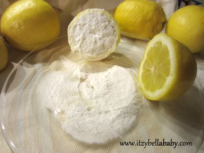 If you live in a hard water area, you may find limescale build up around your taps and sink. Before you reach for the shop-bought chemical descaler again, try this. Sprinkle a generous amount of baking powder all over the area, before using half a lemon to scrub all over. The abrasive powder, together with the chemical reaction, will help remove all stubborn water stains.