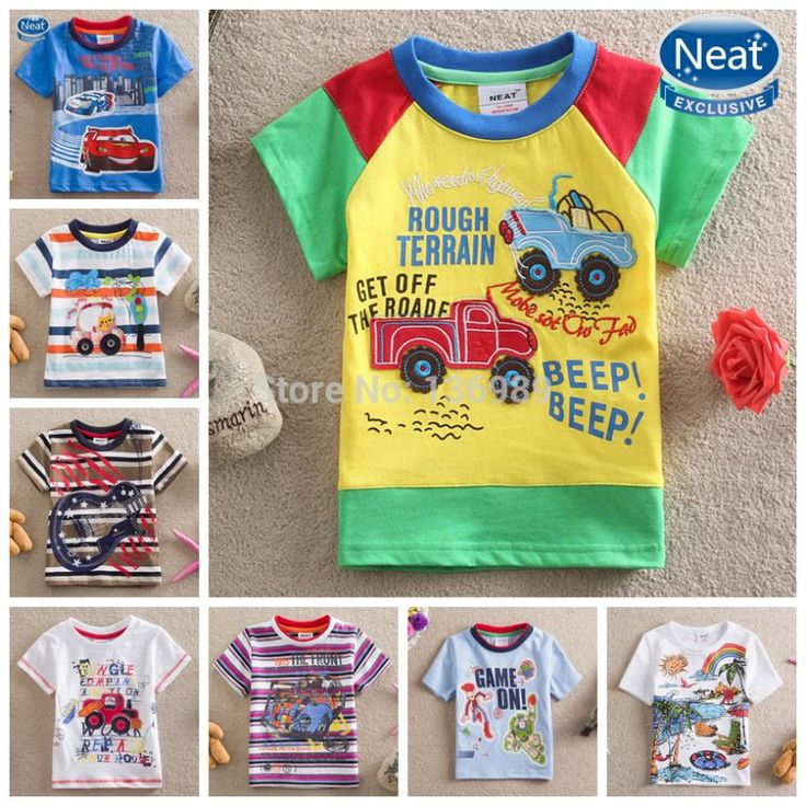 Print embroidered truck car children Boys t shirts kids short sleeve cloth tigor minions roupas meninos camisa geek camisa swag