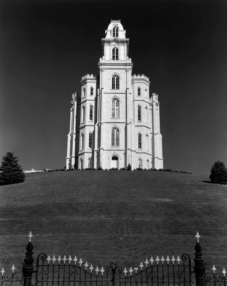 Ansel Adams, Mormon Temple, Manti, Utah, 1948, The Ansel Adams Gallery