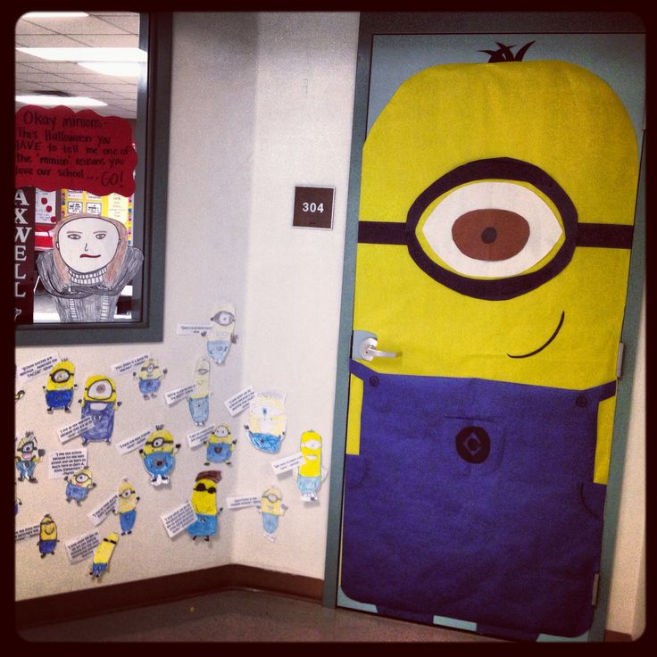 Minion Classroom Door Decor ~ Minion classroom door teaching nd grade displays