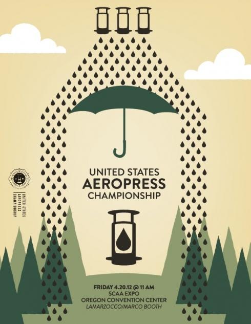 USA aeropress championship poster
